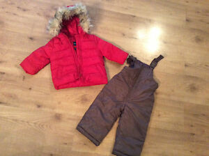 Gap winter coat and Oshkosh pants