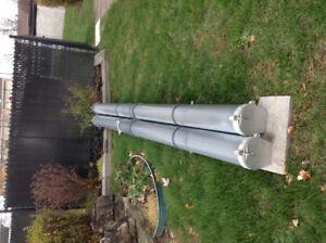 Rack de transport pour tuyaux (électrique ou plomberie)