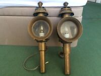 Antique Carriage Lamps - a pair