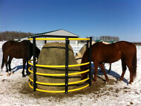 Horse-safe Balefeeders