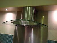 Cooker chimney modern hood silver inox 90cm