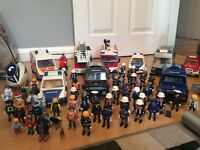 Large playmobil fire police bundle collection stone staffordshire