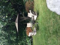 Solid patio set