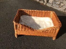 Wicker Dog/Cat Basket