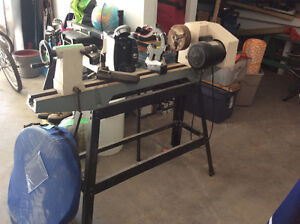 Lathe with stand