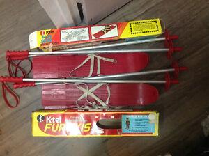 K-tel Fun Skis + Poles - Children