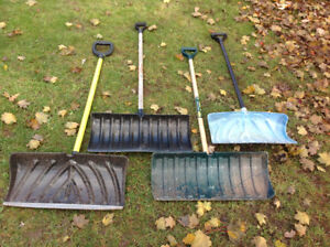 Snow shovels & leaf rakes from 20-in to 26-in - $5-$10