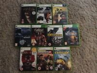 10 Xbox 360 games £15 the lot!