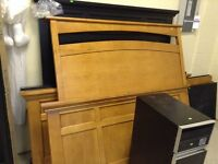 Solid Maple and Chocolate Headboards & Footboards