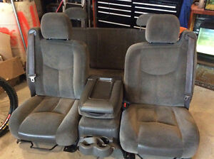 2005 Chevrolet Silverado velour seats. Grey. Nice shape, clean
