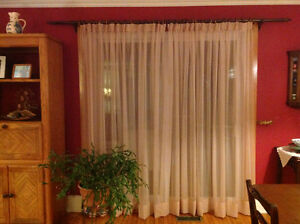 Sheer curtains with curtain rod