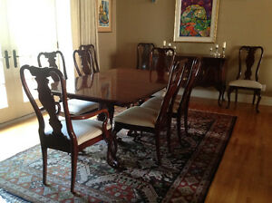 Rare find! Thirteen piece solid cherry dining room suite