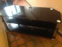 Black Glass TV table for sale