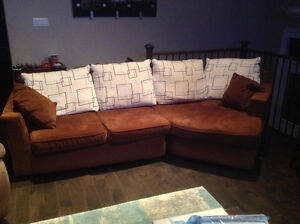 Beautiful sofa with chaise- excellent condition