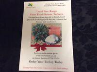 Fresh Free Range Bronze Turkey's Order Today Ready For Christmas