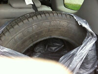 """TWO NEW UNMACHING TIRES 225-65-17 &  4 TOYOTA 18"""" STILL RIMS"""
