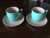 Branksome England China Cups and Saucers