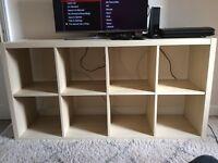Ikea Expedit Kallax Birch veneer 2x4 Shelving Storage