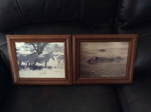 5 good quality wooden frames