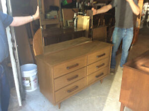 Six drawer dresser with mirror $55.00