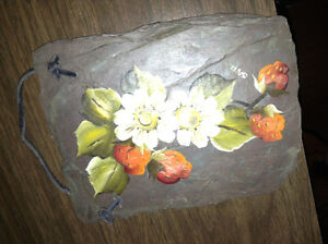 Small painting on shale stone for sale