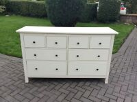 IKEA Hermnes large chest of draws white 8 draws