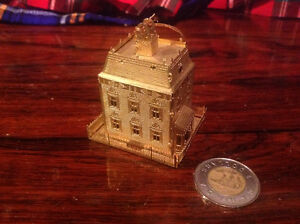 Brass 3D Building Ornament