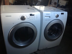 White Samsung front loading washer & dryer for sale for $750.00