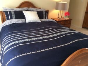 Duvet cover (Queen) + pillow shams