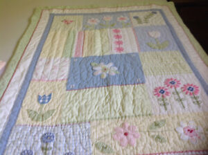 GIRLS BABY QUILT and ACCESSORIES