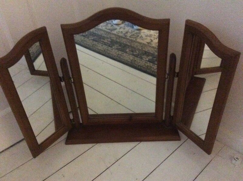 Pine Triple Mirror in lovely condition
