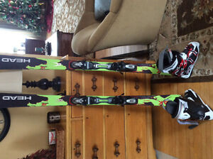 Head skis with bindings and Nordica boots