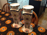 Set of two tall candle holders ( Like new!!!)