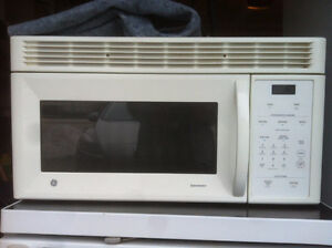 Over the range microwave oven, refrigerator glass top Stove