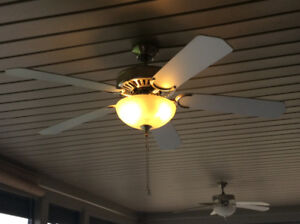 2 Ceiling Fans with lights. $25. each