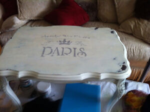 Vintage Hardwood Shabby Chic Weathered Table...free with the... London Ontario image 2