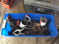 Large Lot of C Clamps - Drill Bits and more