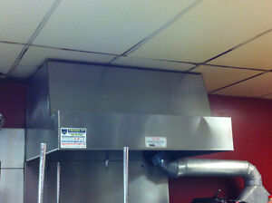 4 Foot Overhead Commercial Kitchen Canopy for Restaurant