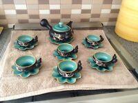 Cups and tea pot