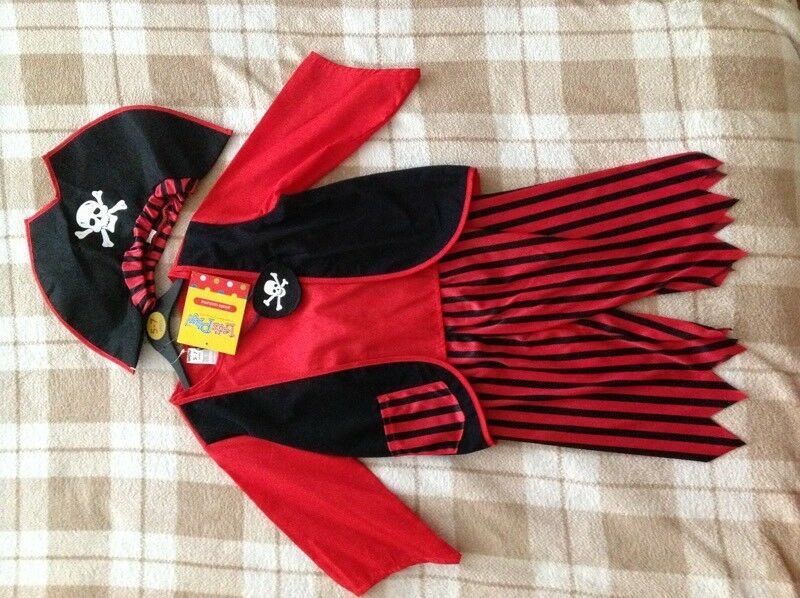 Child's Kid's Fancy Dress Pirate Costume Outfit