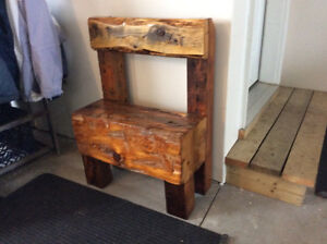 Reclaimed wooden bench/chests