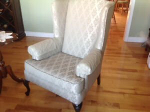 Loveseat and Two Wing Back Chairs Set