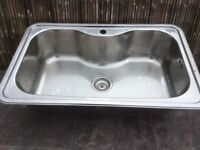 Sink, stainless steel extra deep (Can Deliver)