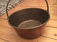 Victorian brass jelly jam pan