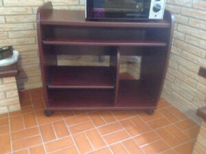 CHERRY WOOD STORAGE TABLE/CONSOLE
