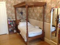 Antique 4 Poster Single Bed