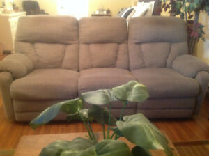 Reclining Sofa and Matching Recliner Chair