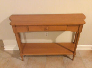 Solid maple sofa/hall table new condition