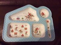 2 Cath kidston cowboy dinner trays plates