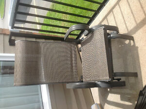 Two brown rockers for the patio or deck.good condition